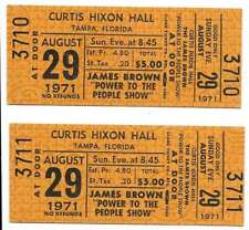 James Brown Concert Ticket Set of 2 1971 Tampa Gold