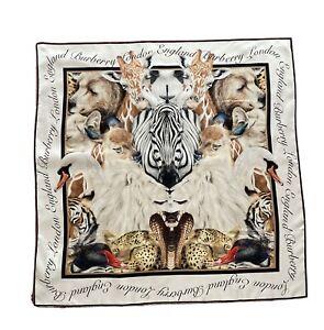 Burberry Animal Portraits Zebra Silk Square New With Tags
