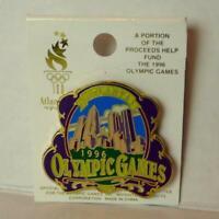 Atlanta 1996 Olympic Games Hologram Sticker Official Pin City Skyline Enamel
