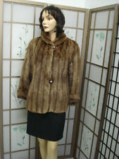 Mint Canadian Natural Plain Muskrat Fur Jacket Coat Women Woman Size 8 Medium