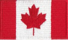 Canada Flag Small Iron On / Sew On Patch Badge 6 x 3.5cm Canadian Kanada