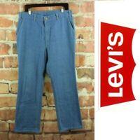 LEVI'S Vintage Denim Pants Mens 34x29 Light Wash Skosh More Room 42 Talon Jeans