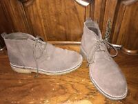 LL BEAN Suede Desert Ankle Chukka Boots Men's Size 8.5M Crepe Soles Dark Brown