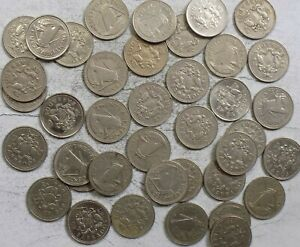 Barbados 25 Cents 40-Coin Roll (L-189)