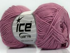 Rose Pink Cotton Bamboo Yarn Ice #41450 Baby / Sport Weight 50 Gram 153 Yards