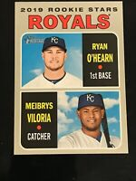 A93 Meibrys Viloria/Ryan O'Hearn 2019 Topps Heritage #241 RC Royals