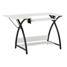 Studio Designs Comet Home Hobby Craft Sewing Machine Table Desk, Black & White