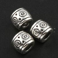 20 Metallperlen Spacer Silber 6mm Zwischenteil für Schmuckherstellung BEST F123
