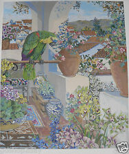 John Powell PARROT AND ROOFS HC 2/20 a RARE & Very Collectible Silkscreen! HOT!