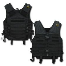 Black Molle Modular Assault Military Tactical Protective SWAT Police Vest Gear