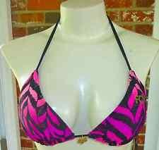 Fox Racing Tiger Bikini/swimsuit Top Pink/black S/small