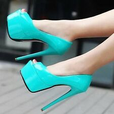 Bright Blue High Heel Shoes UK Size 9 - EU 43 crossdressing new boxed Noo Shoes