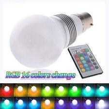 3W B22 RGB Bulb Magic Globe LED Light Lamp Remote Control 16-Color Change
