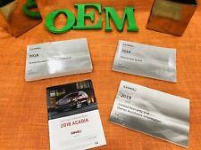 2018 GMC ACADIA OWNERS MANUAL +INFOTAINMENT BK AWD FWD 2.5L 3.6L DENALI (FAST)