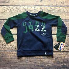 NBA Kids Boys Medium 5/6 Utah Jazz Long Sleeve Pullover Sweatshirt NEW