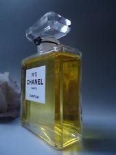 "CHANEL No5 Rare Sealed Parfum Dummy Bottle Vintage 1980s Giant Glass 5"" 100ml"