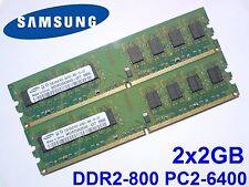 4GB 2x2GB DDR2-800 PC2-6400 DIMM 240pin 800 Mhz PC DESKTOP Mémoire RAM SPEICHER