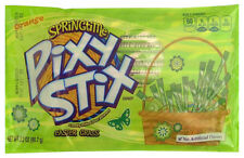 NESTLE 3.2oz Bag SPRINGTIME PIXY STIX  Candy Straws EASTER GRASS Orange Exp.6/18