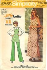 Vintage 1973 Simplicity Sewing Pattern #5559 Misses Jiffy Knit Dress Tunic Pants