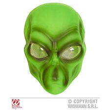 Adult's Halloween Pvc Alien Mask - Accessory Space Masquerade Disguise Science