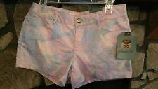Women's Shorts Size 6 Pink Blue Orange Cute Print Route 66 Brand Nice