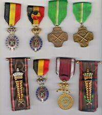 belgique - lot 8  medailles civile du travail belge