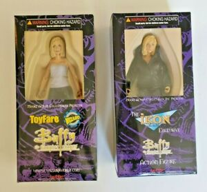 (2) ToyFare Moore Action Figures Buffy the Vampire Slayer & Buffy Ikon Exclusive
