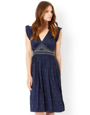 Monsoon Spotted Dresses for Women with Cap Sleeve