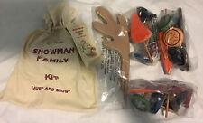 LL Bean Family Snowman Kit Complete New