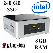 MINI PC Desktop/Dual Core/RAM 8gb ddr3/240gb SSD/Windows 10 Professional