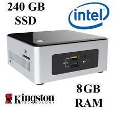 Mini Desktop PC / Dual Core / 8GB DDR3 RAM / 240GB SSD / Windows 10 Professional