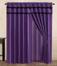 New Black Gray Turquoise Purple Yellow Curtain Panel Window Covering Drapes