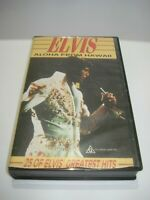 ELVIS ALOHA FROM HAWAII 25 OF ELVIS' GREATEST VHS VIDEO TAPE PAL FREE POSTAGE