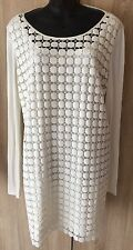 BEAUTIFUL MARINA RINALDI MADE IN ITALY WOMENS DRESS Sz 23 UK 18 W46 B44.5 L42