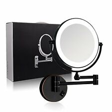 GURUN led Lighted Absolutely Lush Makeup Mirror 1X & 7X Magnification Oil Bronze