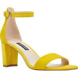 Nine West Womens Yellow Open Toe Dress Sandals Heels 5.5 Medium (B,M) BHFO 9206