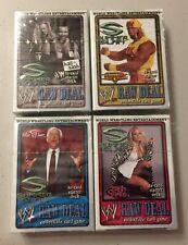 4 Starter Decks Set WWE Raw Deal Summer Slam Hulk Hogan Ric Flair Trish Stratus
