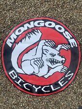 1990's 26� Diameter Mongoose Sign Banner Advertising rare vintage bmx gt dyno