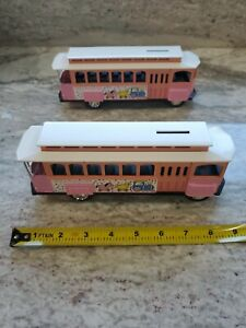 "Ertl Collectibles ""Its a girl"" Trolly Car Die-cast Coin Bank-Baby's First Bank!"