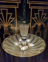 Antique/Vtg 1920s-30s Art Deco Cosmopolitan Chandelier Light/Lamp fixture Gatsby
