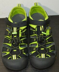 Keen Newport H2 Big Kids Sport Sandals Shoes Black/ Lime Green Sz 6 1009965