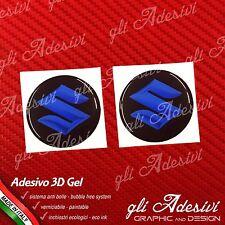 2 Adesivi Resinati SUZUKI 3D Blu 20 mm auto moto