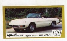 figurina - BAGGIOLI GOLDEN CAR NUMERO 6 ALFA ROMEO SPIDER 2.0 CC. 1962
