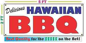 Full Color HAWAIIAN BBQ BANNER Sign NEW Larger Size Best Quality for the $$$