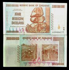 Zimbabwe FIVE BILLION DOLLARS  Banknote World Paper Money UNC Currency Bill Note