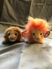Ty Beanie Baby Roary The Lion Forced Retirement W Tag Errors (Bushy  Included) ba1cc7ace36b
