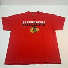 Chicago Blackhawks Shirt Extra Large Xl Red Short Sleeve Nhl Mens U200