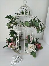 Vintage Metal Bird Cage Decorating Flowers Unique Large