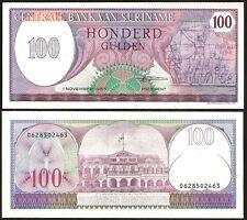 SURINAME  100 Gulden 01.11. 1985 UNC P 128 b