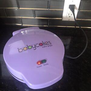 BabyCakes Cake Pop Maker Purple Donut Hole 12 Mini Cake Dessert - Tested/Working